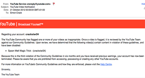 Youtube Bans Crackster24