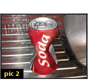 crush and restore a soda can