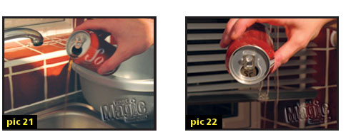 coin into soda can
