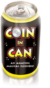 coin in soda can magic trick