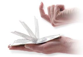 free magic tricks - self folding bill