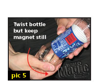 free simple magic tricks - coin in bottle