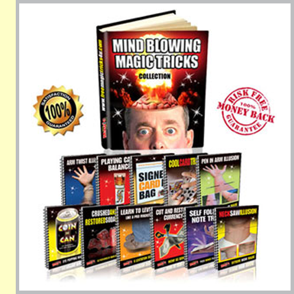 Our first eBook containing over 50 amazing magic tricks
