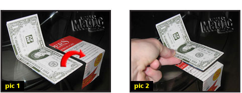 paper to money magic trick