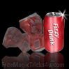 crushed and restored soda can
