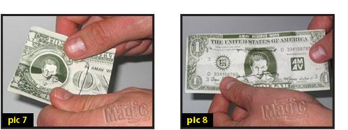 Self Folding Bill Magic Trick Tutorial