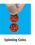 spinning coins