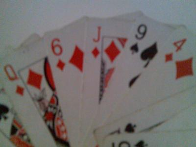 In this example their card is the jack of diamonds.