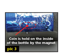 free street magic - coin in bottle