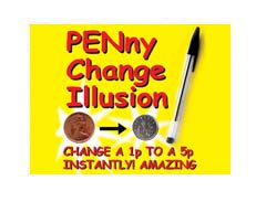 penny change free magic tricks, magic