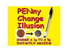 penny change free magic tricks, magic